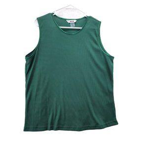 ARIA Women's Dark Green Tank Top Size X-Large